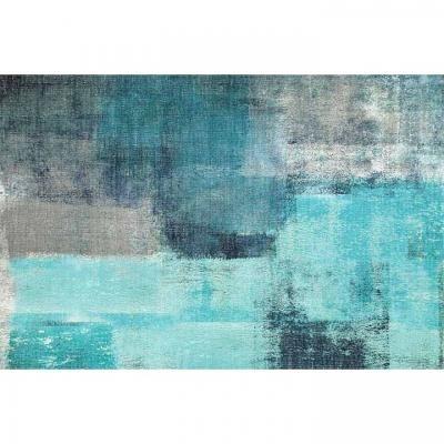 Szőnyeg 160x230 cm, absztrakt, kék - LA BANQUISE
